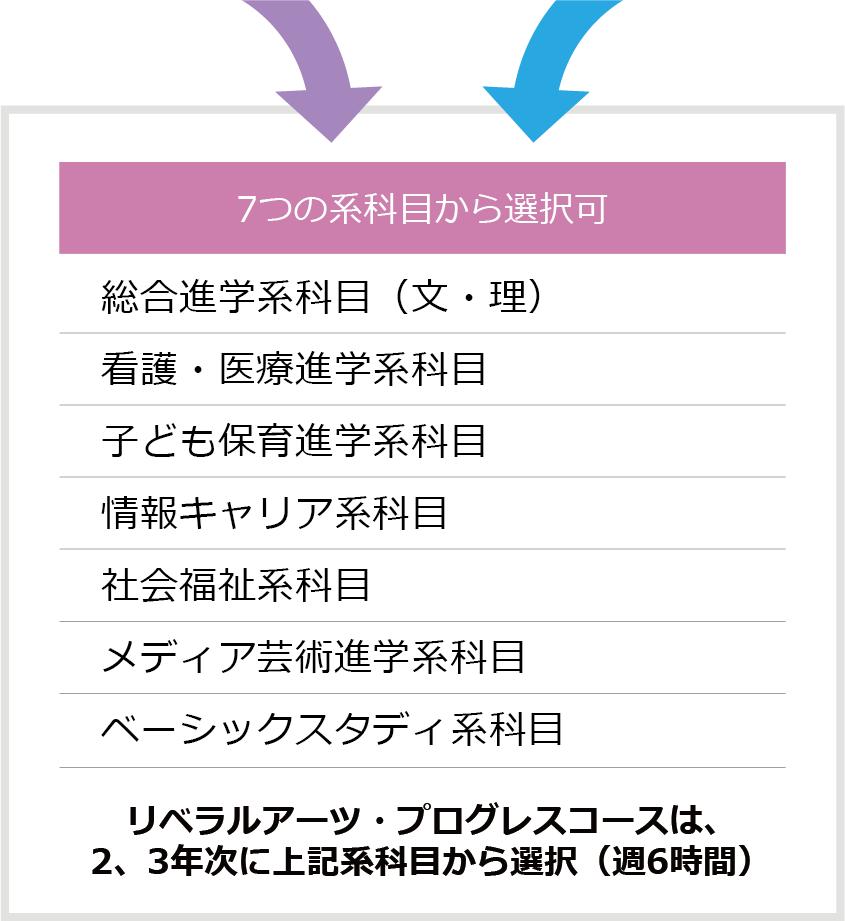 7つの系科目から選択可